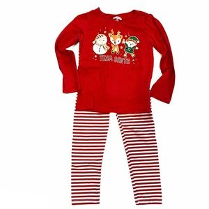 Holiday Time 5T Christmas Stripe Elf Outfit
